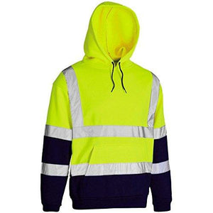 Yellow Hi Vis Two Tone Hooded Sweatshirt EN ISO 20471 - SuperStuff Workwear