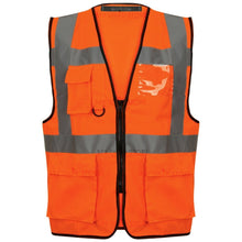 Load image into Gallery viewer, Multi Pocket Zipped Hi Vis Vest EN ISO 20471 - SuperStuff Workwear