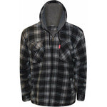 Sherpa Fleece Lined Padded Hooded Lumberjacket