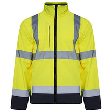 Load image into Gallery viewer, Orange Hi Vis Two Tone Softshell JACKET - SuperStuff Workwear