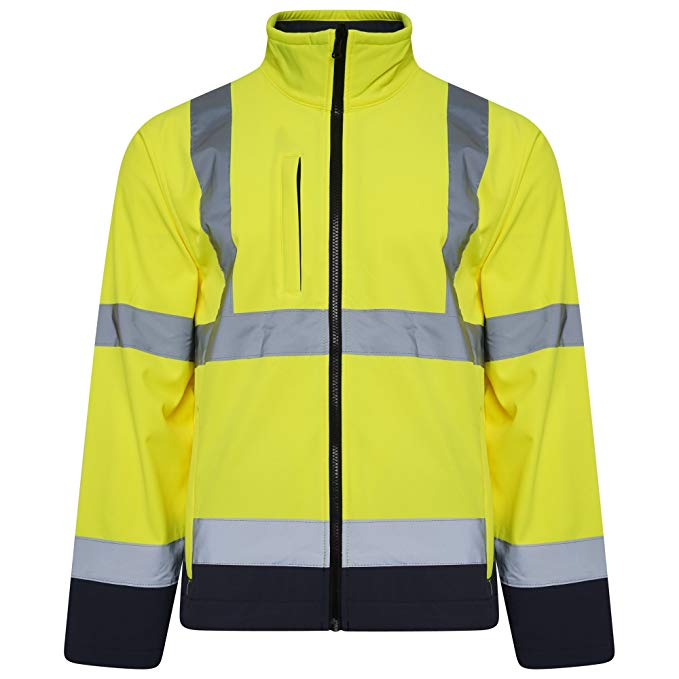 Hi Vis Two Tone Softshell JACKET - SuperStuff Workwear