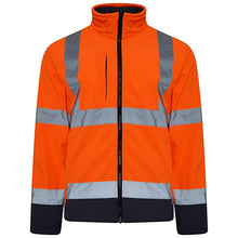 Load image into Gallery viewer, Hi Vis Two Tone Softshell JACKET - SuperStuff Workwear