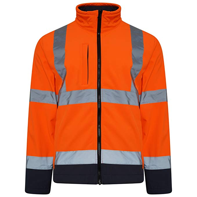 Orange Hi Vis Two Tone Softshell JACKET - SuperStuff Workwear