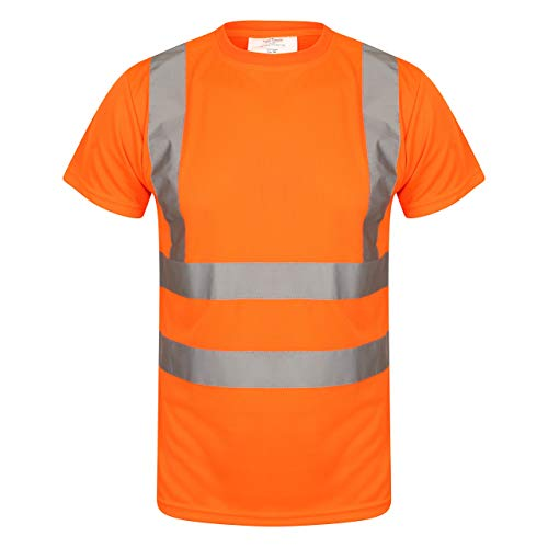 Hi Vis Crew Neck T Shirt EN ISO 471 Orange
