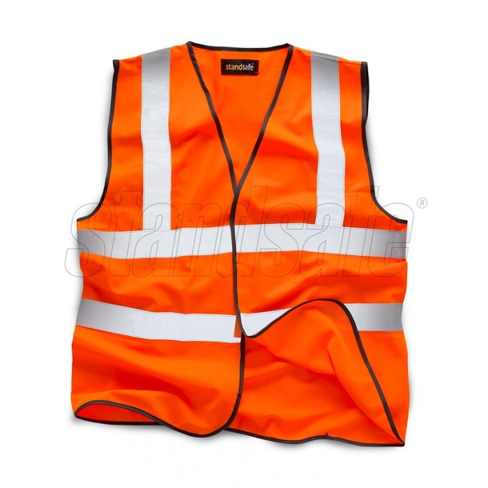 Orange Hi Vis Vest EN ISO 20471 GO/RT 3279/RIS-3279-TOM - SuperStuff Workwear