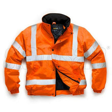 Load image into Gallery viewer, Orange Storm Flex PU Bomber Jacket EN ISO 20471 GO/RT 3279/RIS-3279-TOM - SuperStuff Workwear