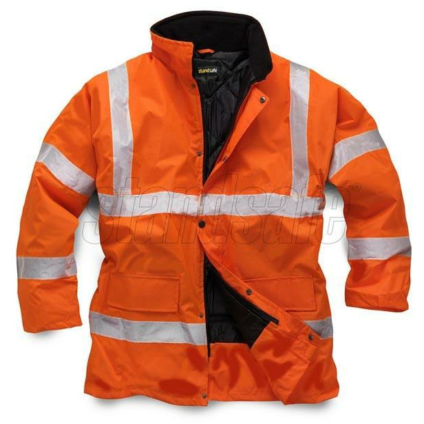 Orange Storm Flex PU Parka EN ISO 20471 GO/RT 3279/RIS-3279-TOM - SuperStuff Workwear