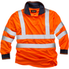 Long Sleeve Hi Vis Polo Shirt EN ISO 20471 GO/RT 3279/RIS-3279-TOM