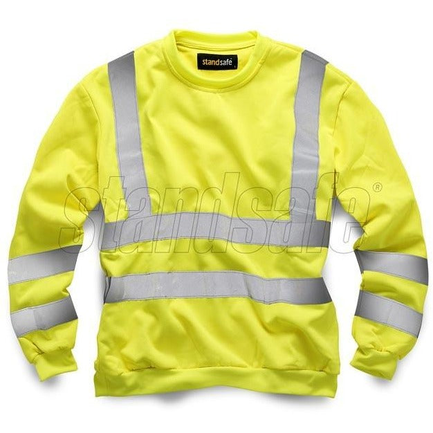 Yellow Hi Vis Sweatshirt EN ISO 20471 - SuperStuff Workwear