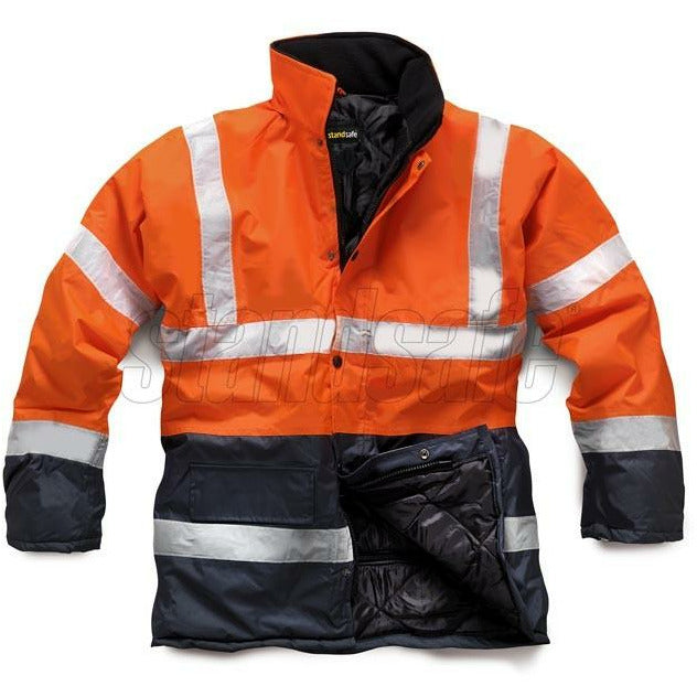Orange 2 Tone Parka EN ISO 20471 - SuperStuff Workwear