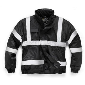 Black Bomber Security Jacket EN343 - SuperStuff Workwear