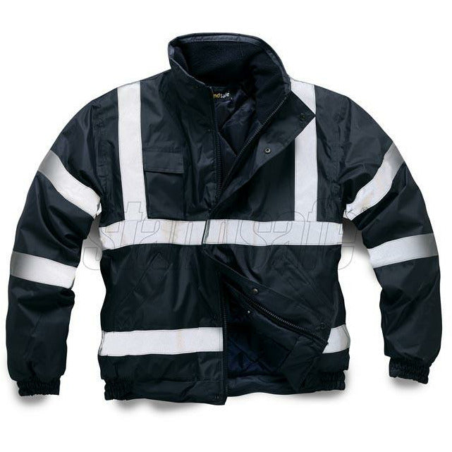 Navy Bomber Security Jacket EN 343 - SuperStuff Workwear