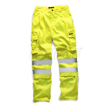 Load image into Gallery viewer, HI VIS POLYCOTTON TROUSER YELLOW EN ISO 20471 - SuperStuff Workwear