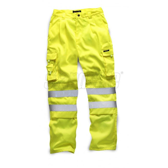 HI VIS POLYCOTTON TROUSER YELLOW EN ISO 20471 - SuperStuff Workwear