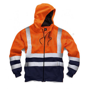 Orange Hi Vis Two Tone Zipper EN ISO 20471 - SuperStuff Workwear