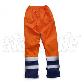 Orange Hi Vis Two Tone Overtrouser EN ISO 20471 - SuperStuff Workwear