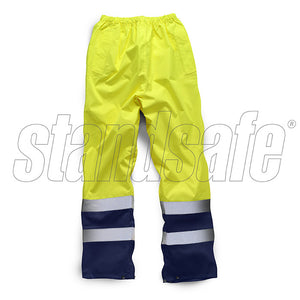 Yellow Hi Vis Two Tone Overtrouser EN ISO 20471 - SuperStuff Workwear