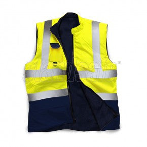 Yellow Two Tone Hi Vis Bodywarmer EN ISO 20471 - SuperStuff Workwear