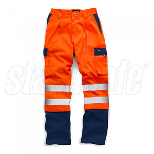 HI VIS 2 TONE POLYCOTTON TROUSER EN ISO 20471 - SuperStuff Workwear