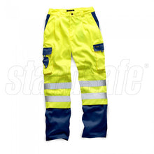 Load image into Gallery viewer, HI VIS 2 TONE POLYCOTTON TROUSER Orange EN ISO 20471 GO/RT 3279/RIS-3279-TOM - SuperStuff Workwear