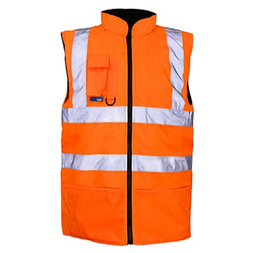 Orange Hi Vis Bodywarmer EN ISO 20471 GO/RT 3279/RIS-3279-TOM - SuperStuff Workwear
