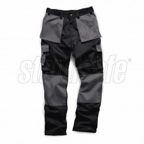Black/Grey Two Tone Pro Work Trouser - SuperStuff Workwear