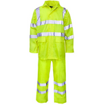 High Visibility Hooded Rainsuit EN ISO 20471 - SuperStuff Workwear