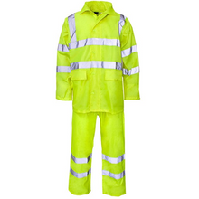 Load image into Gallery viewer, High Visibility Hooded Rainsuit Orange EN ISO 20471 GO/RT 3279/RIS-3279-TOM - SuperStuff Workwear