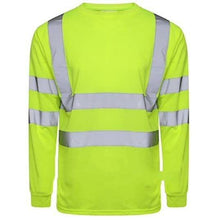 Load image into Gallery viewer, Hi Vis Long Sleeve Crew Neck T-Shirt EN ISO 20471 - SuperStuff Workwear