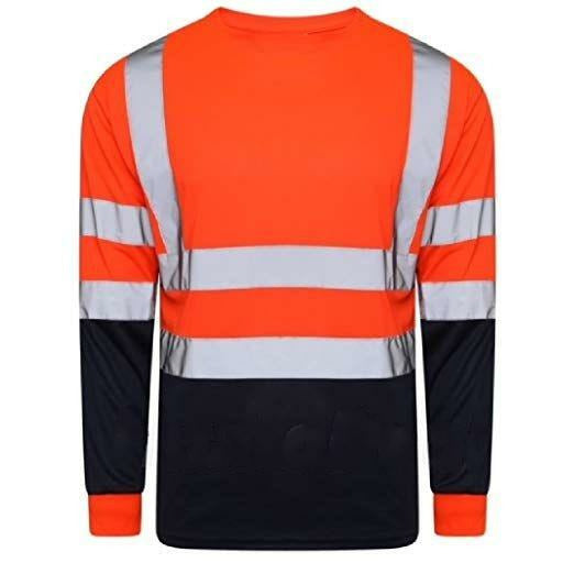 Long Sleeve Hi Vis Two Tone T-Shirt Orange EN ISO 20471 - SuperStuff Workwear