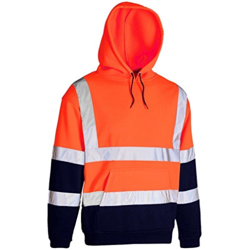 Orange Hi Vis Two Tone Hooded Sweatshirt EN ISO 20471 - SuperStuff Workwear