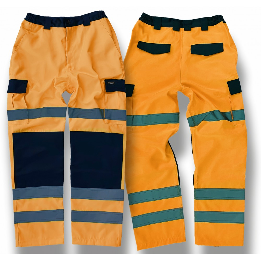 Kapton® High Visibility Polycotton Cargo Combat Work Trousers