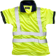 Load image into Gallery viewer, Hi Vis Yellow Polo EN ISO 20471
