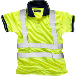 Hi Vis Yellow Polo EN ISO 20471