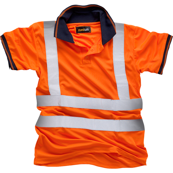 Hi Vis Orange Polo Shirt EN ISO 20471 GO/RT 3279/RIS-3279-TOM