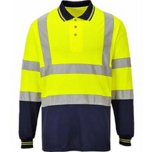 Load image into Gallery viewer, Hivis Two Tone Long Sleeve Polo Shirt EN ISO 20471 - SuperStuff Workwear