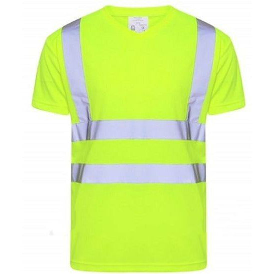 Hi Vis V Neck T-Shirt EN ISO 20471 - SuperStuff Workwear