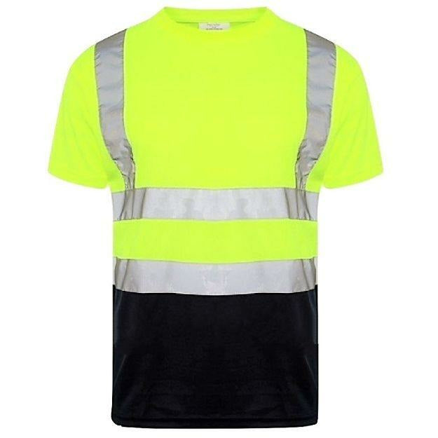 Two Tone Round Neck T-Shirt EN ISO 20471 - SuperStuff Workwear