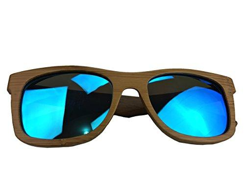 bamboo sunglasses blue