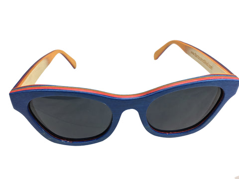 skateboard wood sunglasses women's