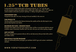TCB 1.25-inch Disposable Tubes (15 per box)