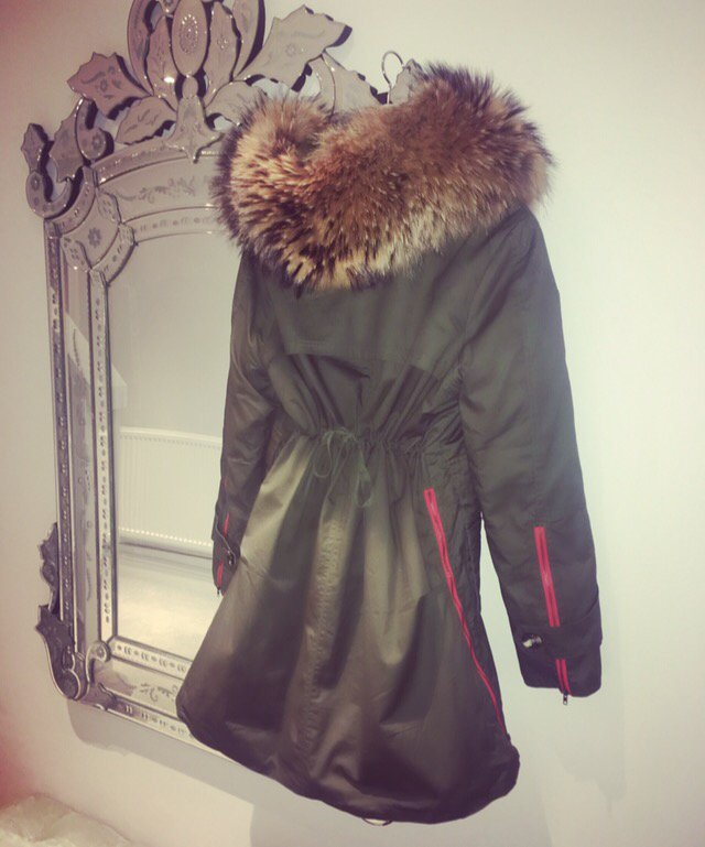 Army Fur Hood Parka - Green