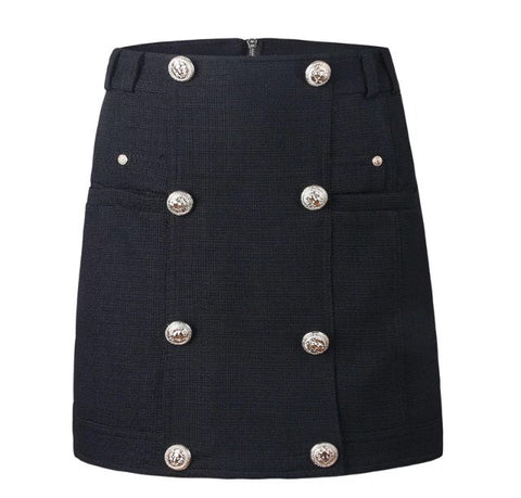Bally Skirt with Gold Buttons - White