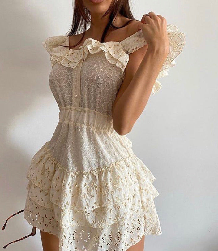 Sophia Dress - Cream