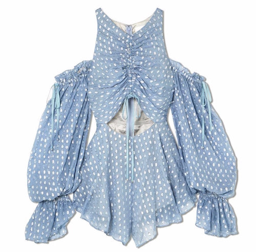 Lacey Playsuit - Blue