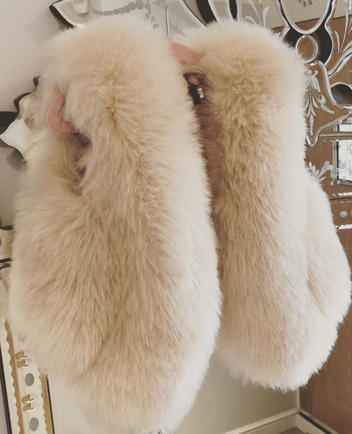 Cream Kids Faux Fur Gillet