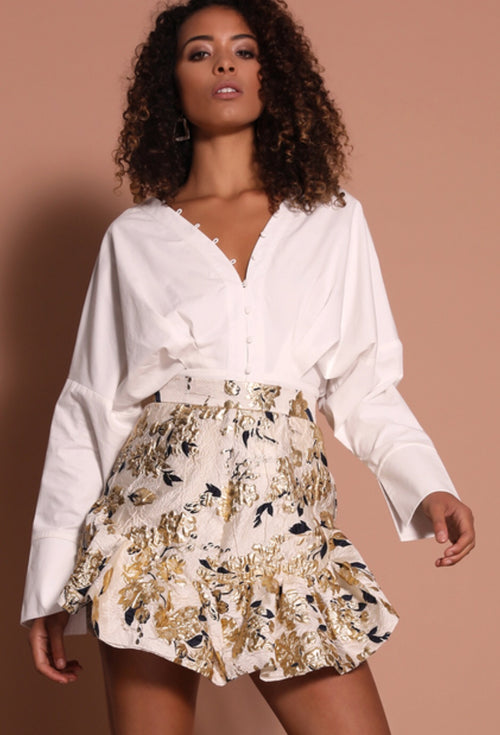 KINTSUGI SKIRT - CREAM/GOLD