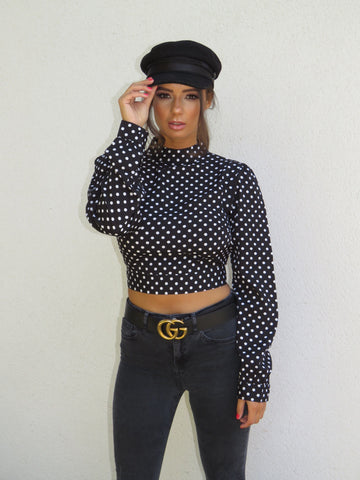 Spotty Handkerchief Top