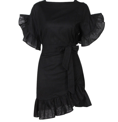 Cara Ruffle Wrap Dress