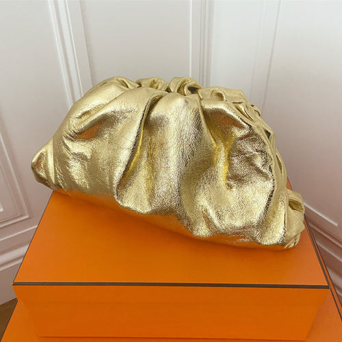 Soho Clutch Bag - Yellow Gold Large